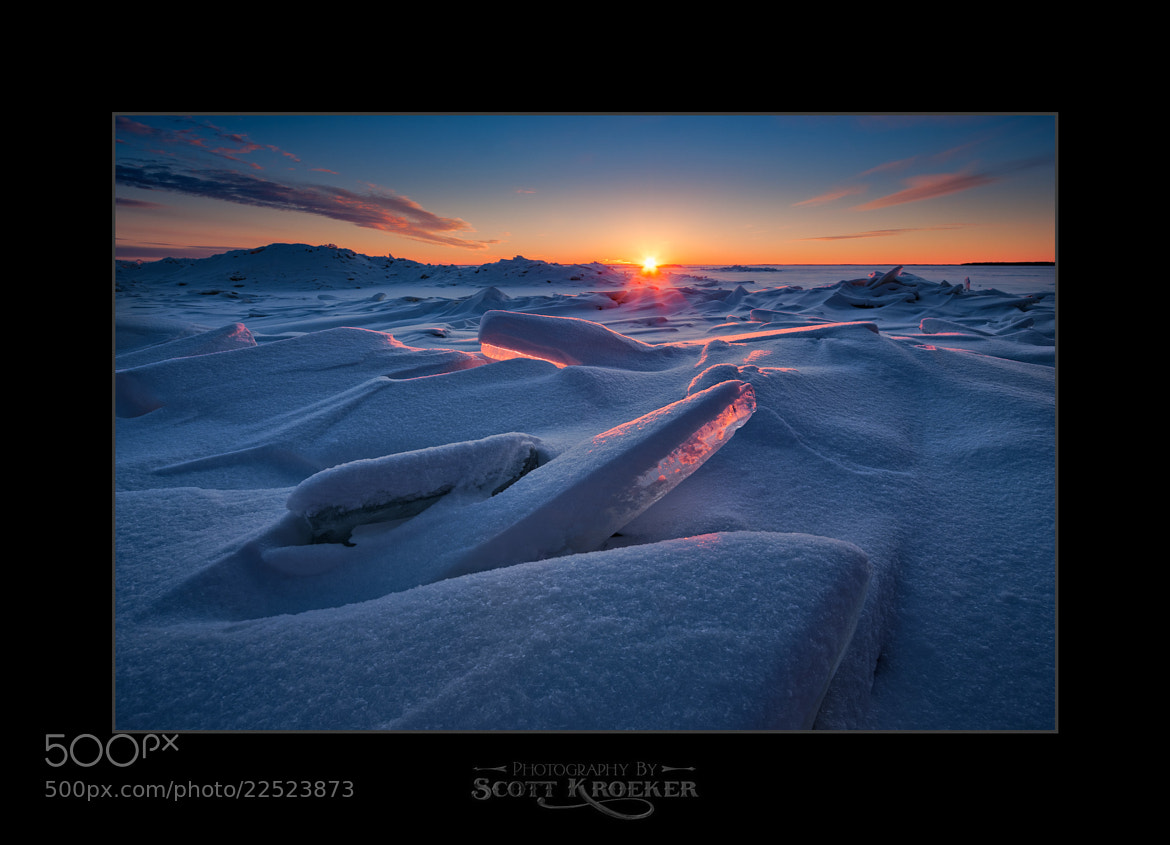 Photograph Icy Sunset II by Scott Kroeker on 500px