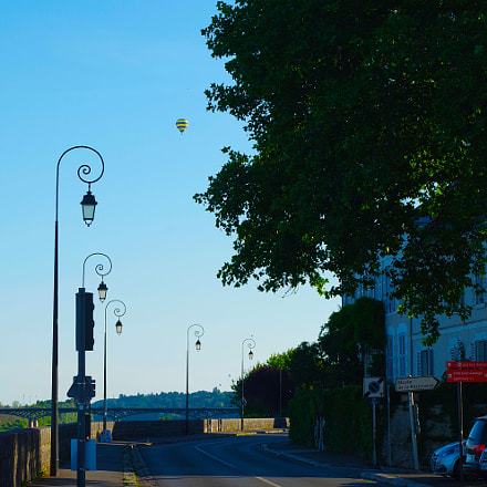 Balloon in the sky of Blois