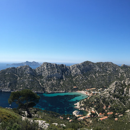 Calanques from top, France