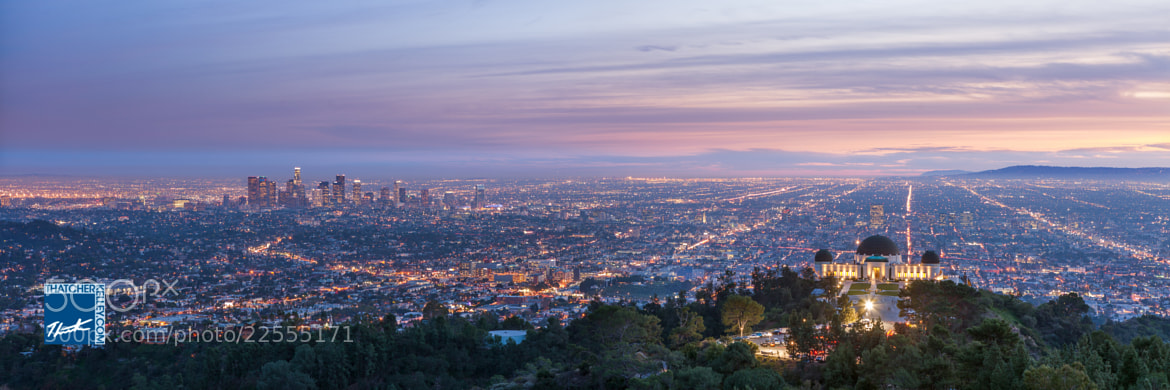 Photograph Griffith Observatory Overlooking Los Angeles by Thatcher Kelley on 500px