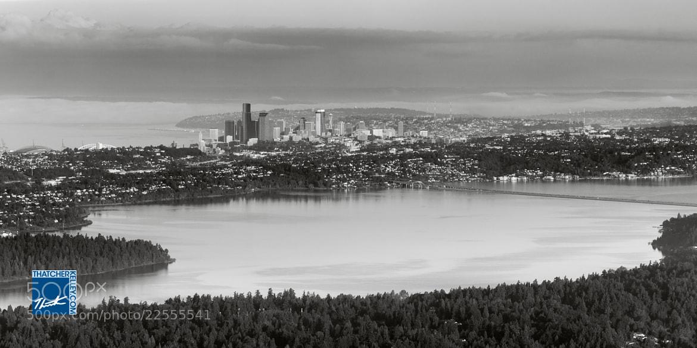 Photograph Seattle across Lake Washington by Thatcher Kelley on 500px