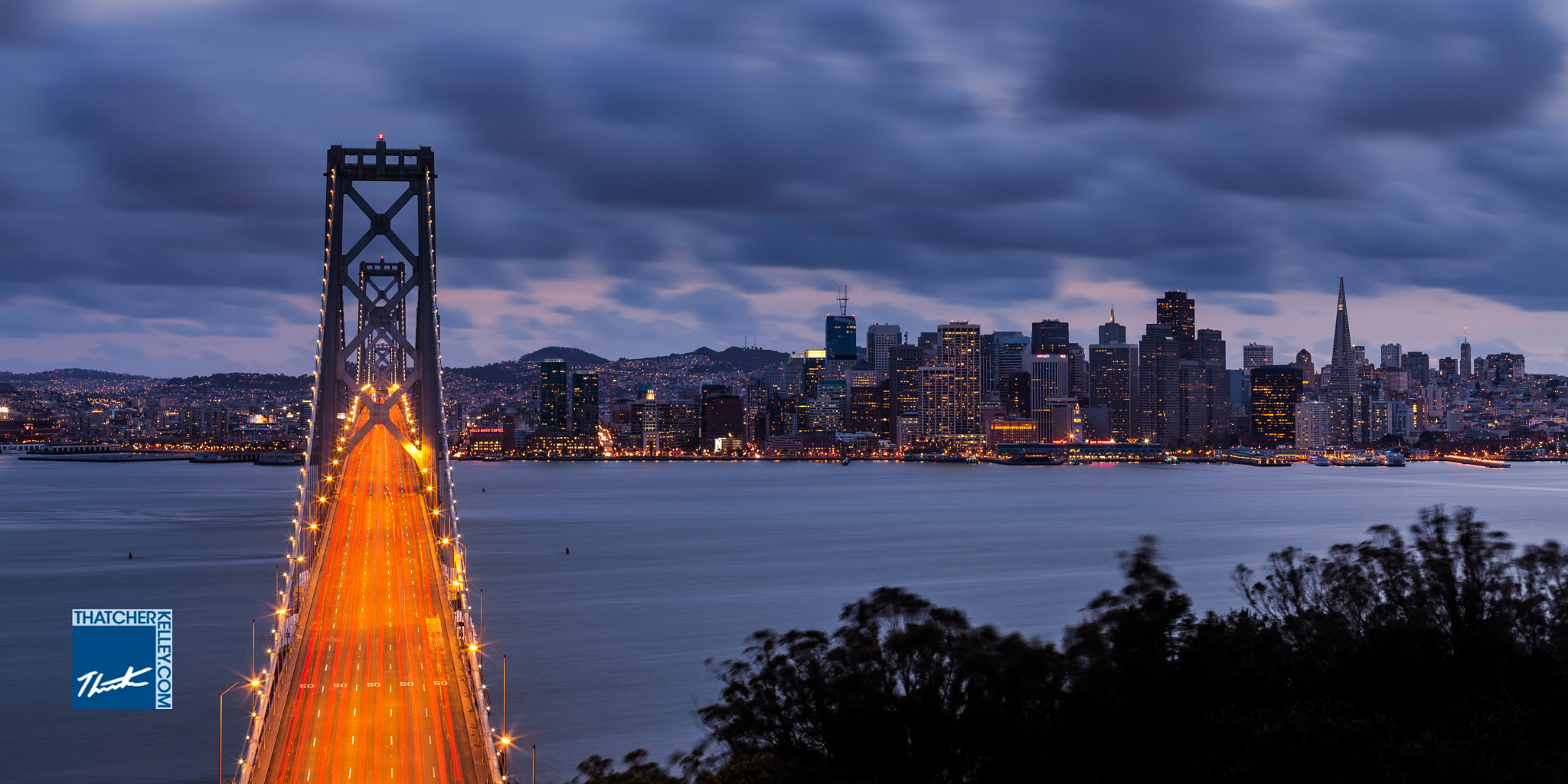 Photograph Glowing City and Bridge by Thatcher Kelley on 500px