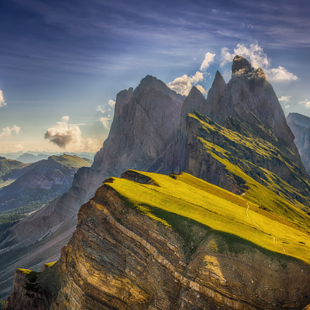 Alpe di Seceda  and the breathtaking Odle mountain