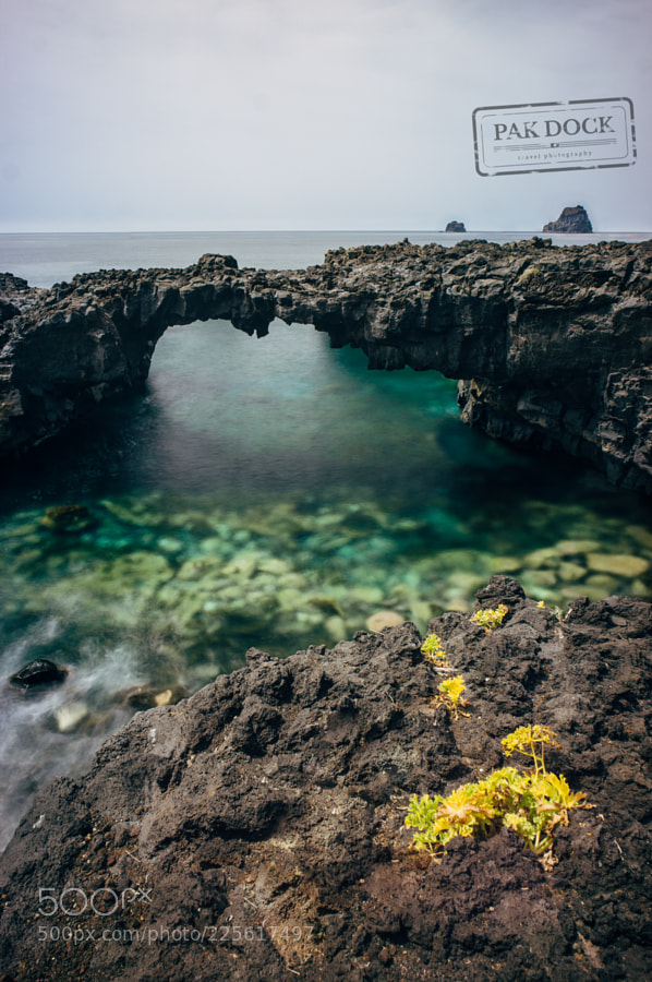 Natural Arch in Las Puntas - El Hierro