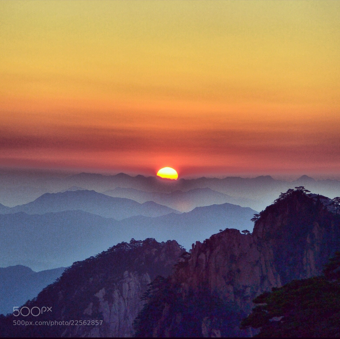 Photograph Sunrise at Mount Huangshan by Alex You He Zheng on 500px