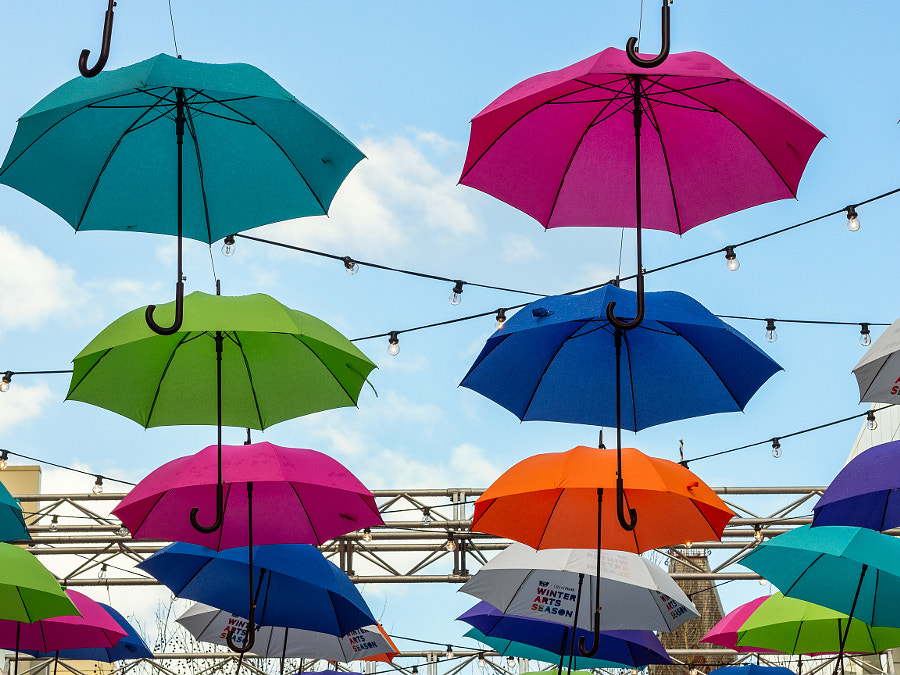 COLOURFUL UMBRELLA INSTALLATION by Paul Amyes on 500px.com