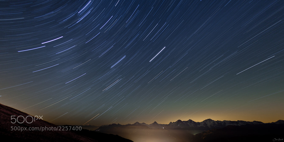 Photograph One Night over the Alps by Jan Geerk on 500px