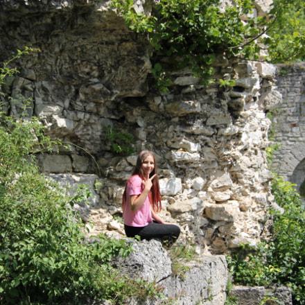 Ausruhen auf der Burgruine