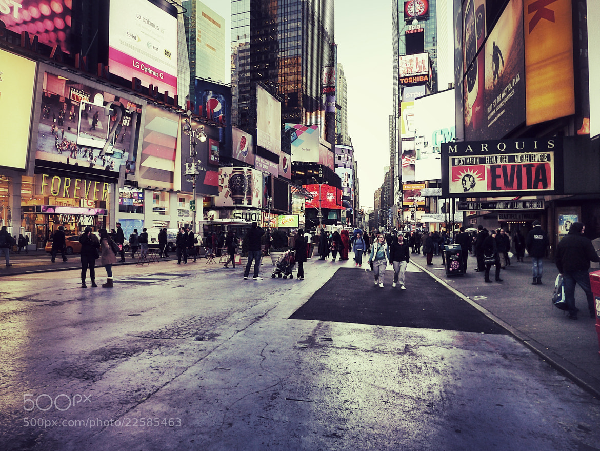 Photograph Passing Times Square by Pete  on 500px