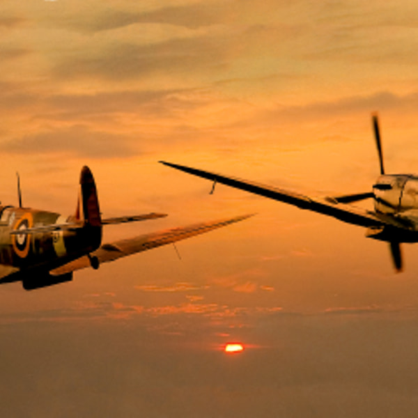 Spitfires at Sunset