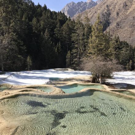 Huanglong scenic spot in Sichuan