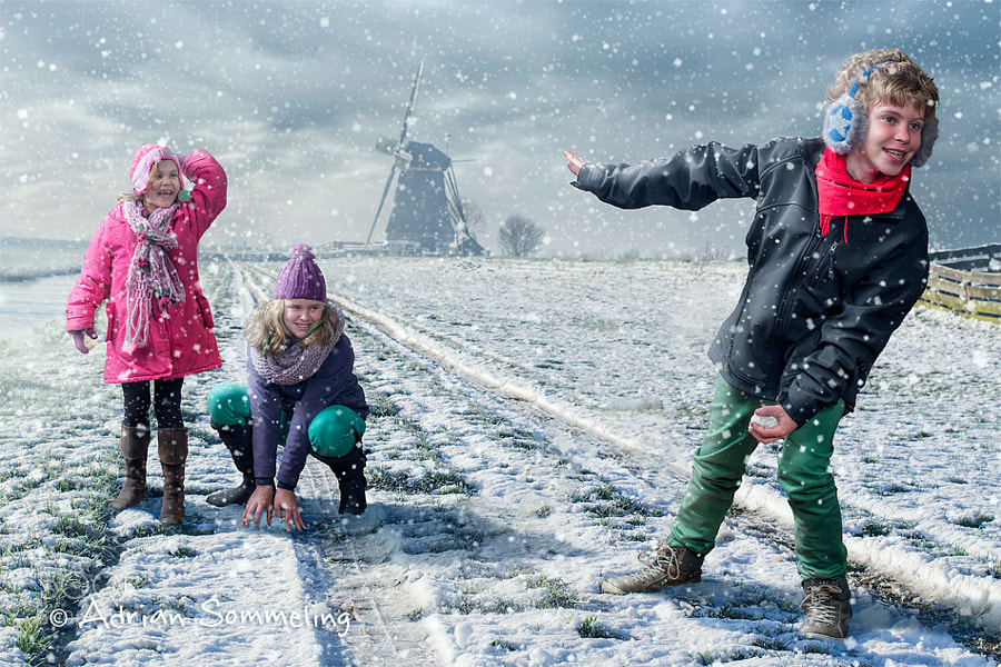 Photograph Snowball Fight by Adrian Sommeling on 500px