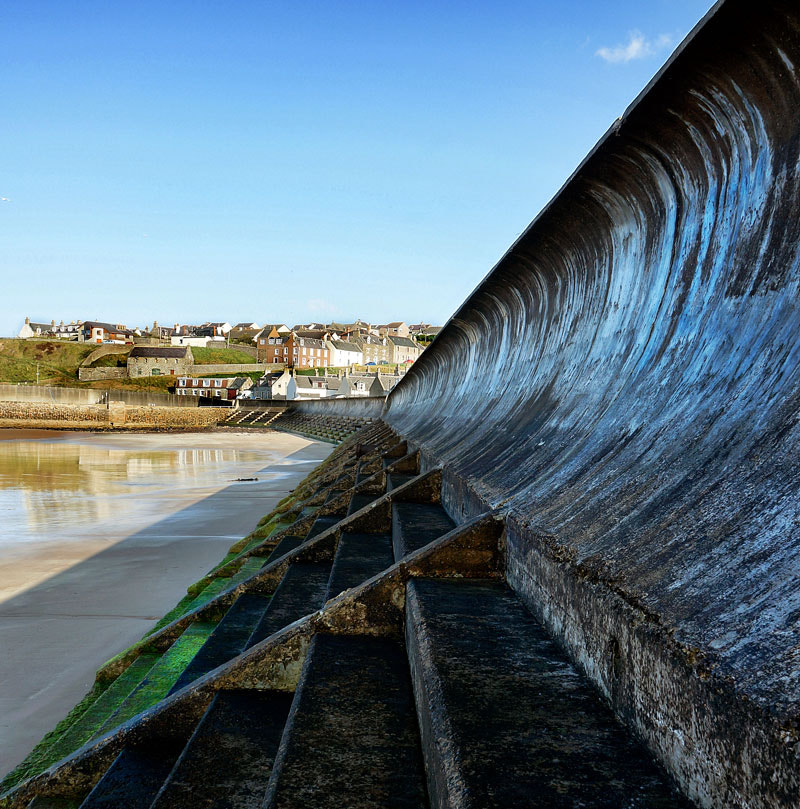 Photograph Sea Wall, Cullen Bay, Moray, Scotland by Heather Leslie Ross on 500px