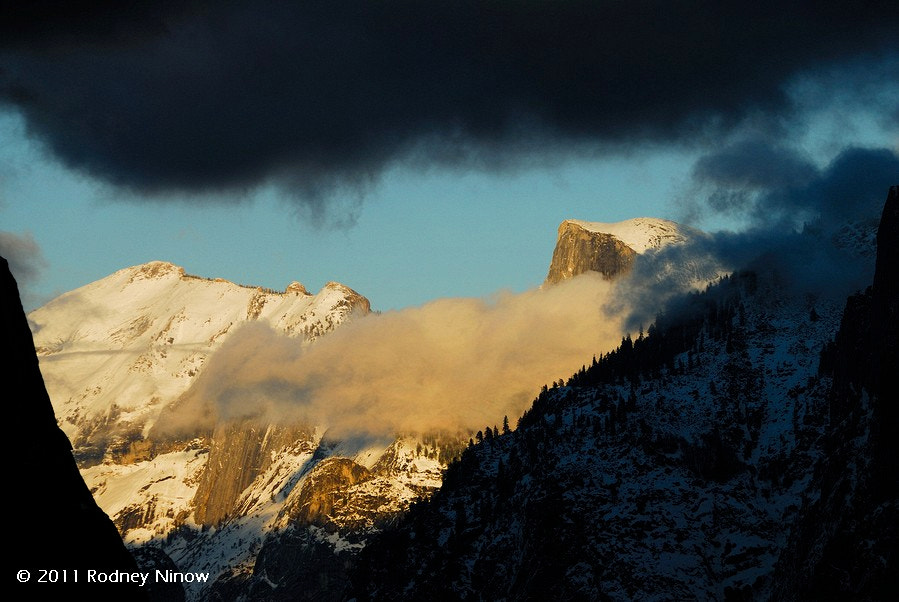 Photograph Clearing Storm, Half Dome and Clouds Rest by Rodney Ninow on 500px