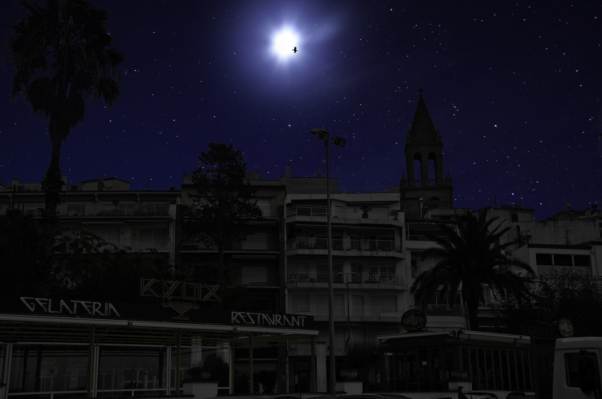 Photograph Palamós into complete Darkness by Àngel  on 500px