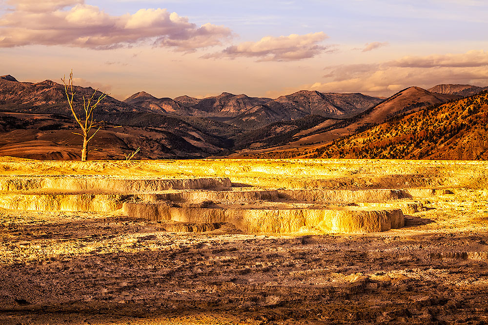 Photograph Upper Terrace of Mammoth Hot Spring by Ivan Peña on 500px