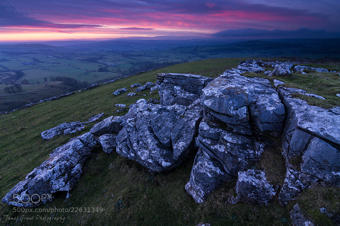 Photograph Wolfscote Hill Afterglow by James Grant on 500px