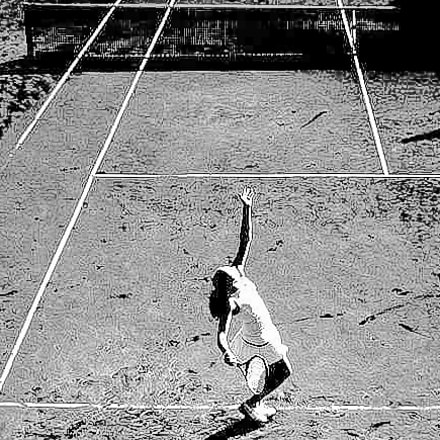 Tennis on the moon