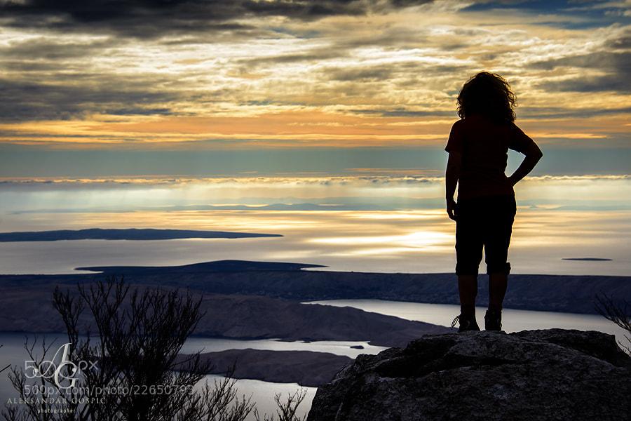 Afternoon on Velebit mountain, overlooking Adriatic sea