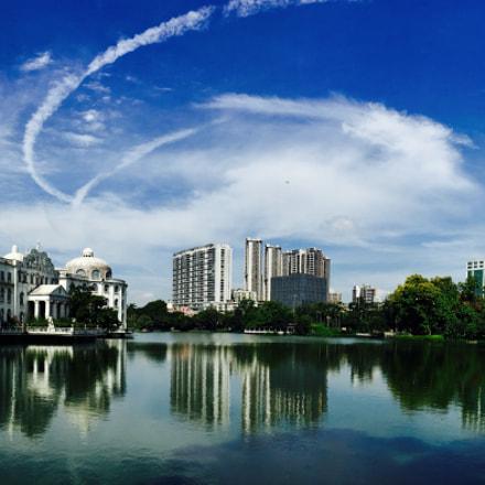 台风前的云彩