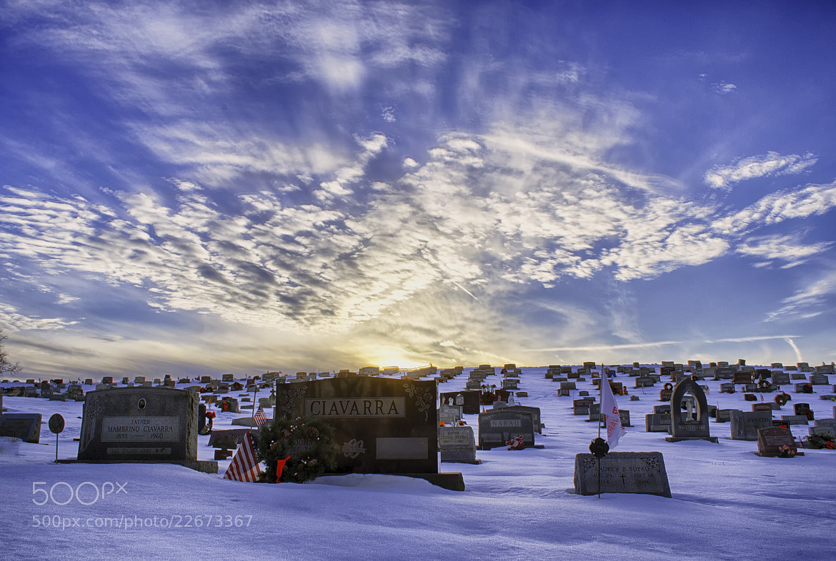 Photograph Cemetery Sunset by Michael Mounts on 500px