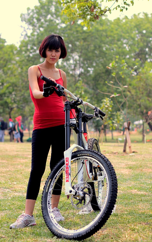 Photograph she and her bike by Gananda Hayardisi on 500px