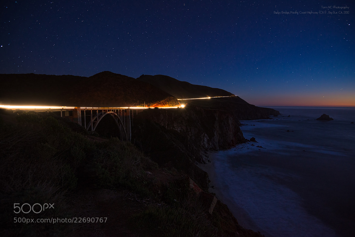 "Photograph Bixby Bridge Under Starry Night by Noppawat ""Tom"" Charoensinphon on 500px"
