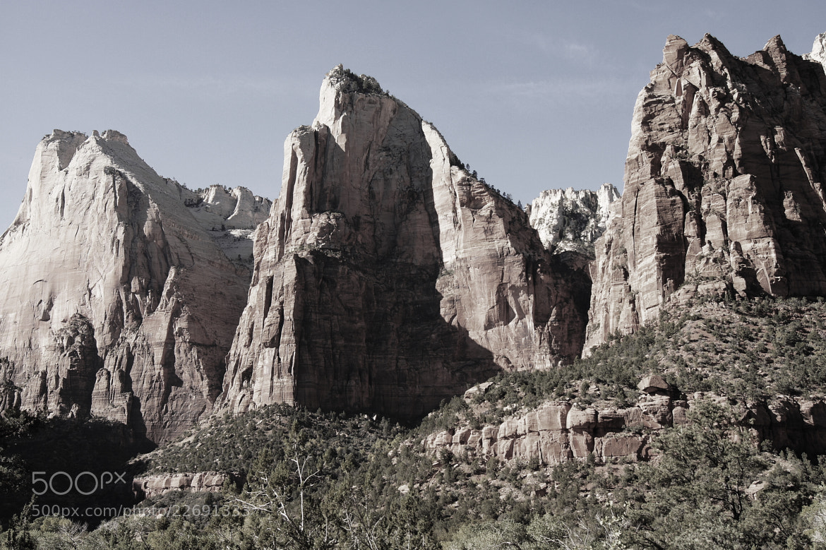 Photograph Zion National Park Patriarchs II by Aric Jaye on 500px