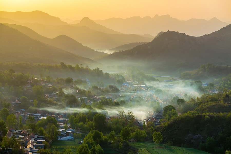 Photograph Village morning by Song Hongxiao on 500px