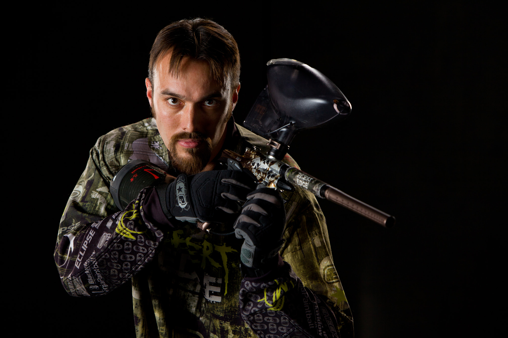 Photograph Paintball Portrait by Jeremy Hall on 500px