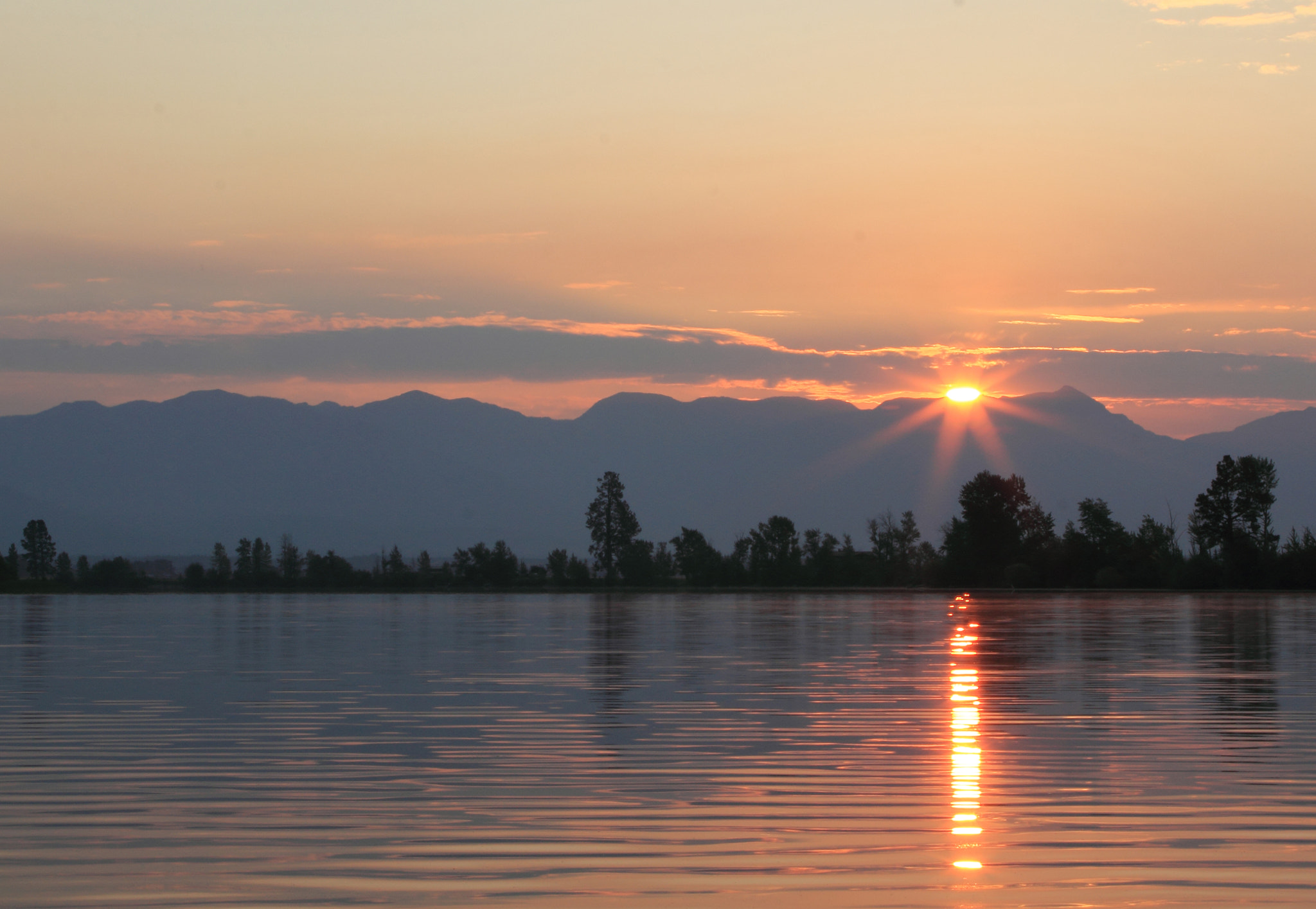 Photograph Sunrise on Flathead River by Rick Huntsman on 500px