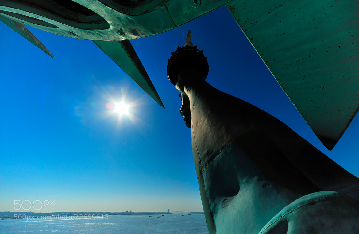 Photograph The NY Harbour entrance from the Top of the Crown of the Statue of Liberty - New York City by Michael FRANCHITTI on 500px