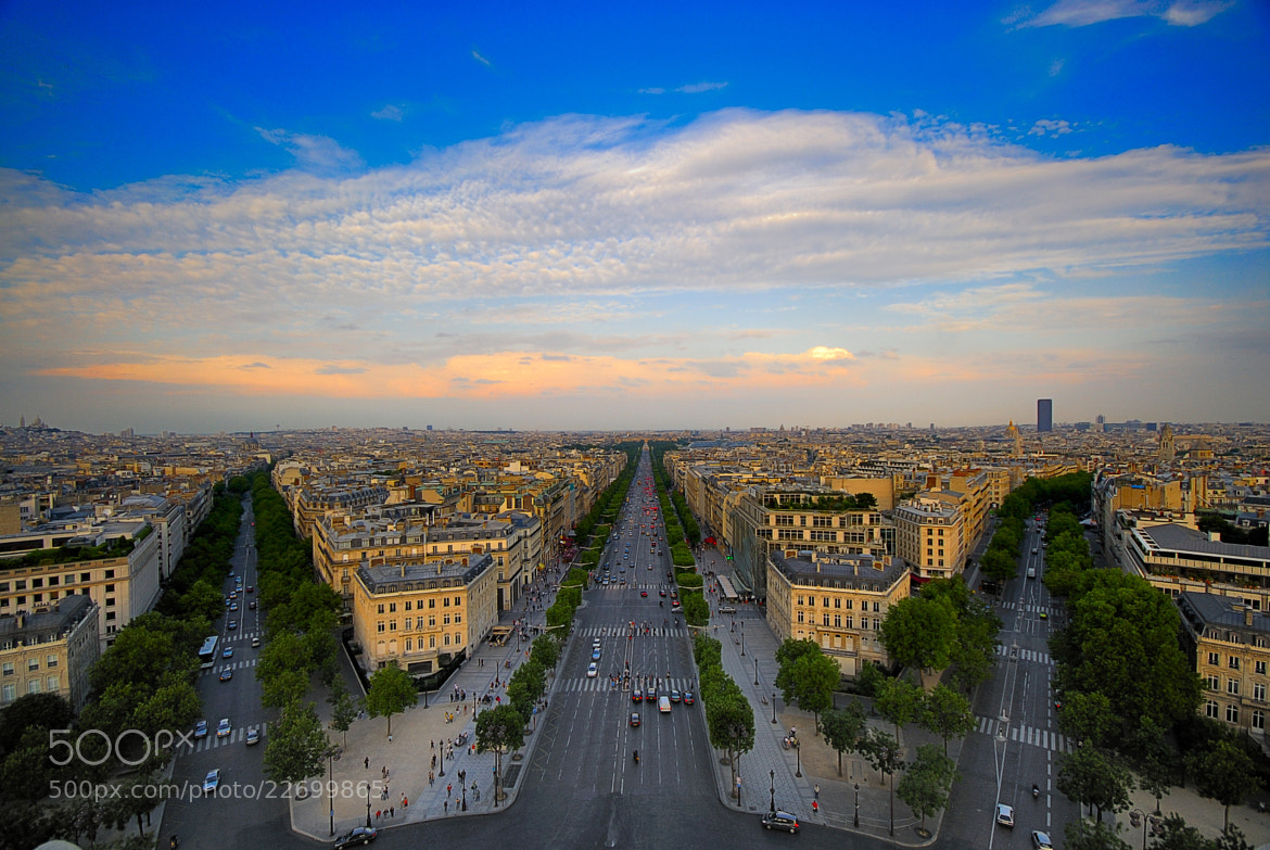 Photograph Paris from the Arc de Triomphe 3 by Paco López on 500px