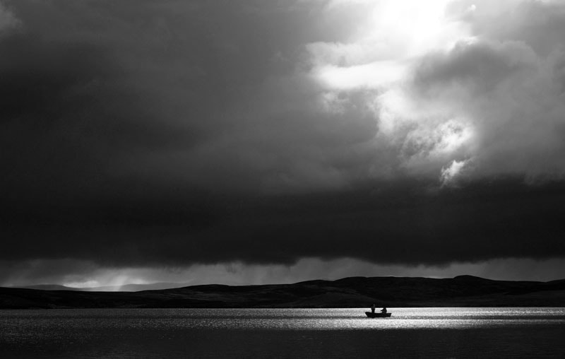 Photograph Two Men in a Boat, Loch Landsaidh, Dornoch, Scottish Highlands by Heather Leslie Ross on 500px