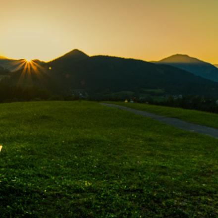 Sonnenuntergang Mariazell