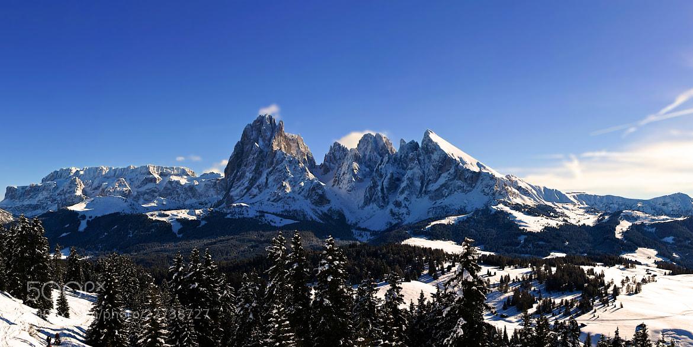Photograph Saslong panorama by Fabiano  on 500px