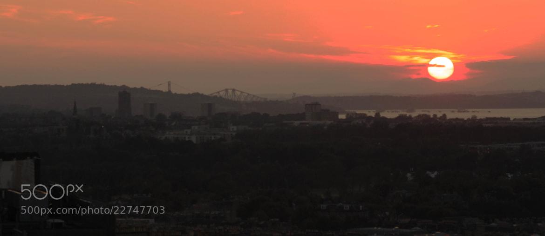 Photograph sunset over Edinburgh by Monika Wadowska on 500px