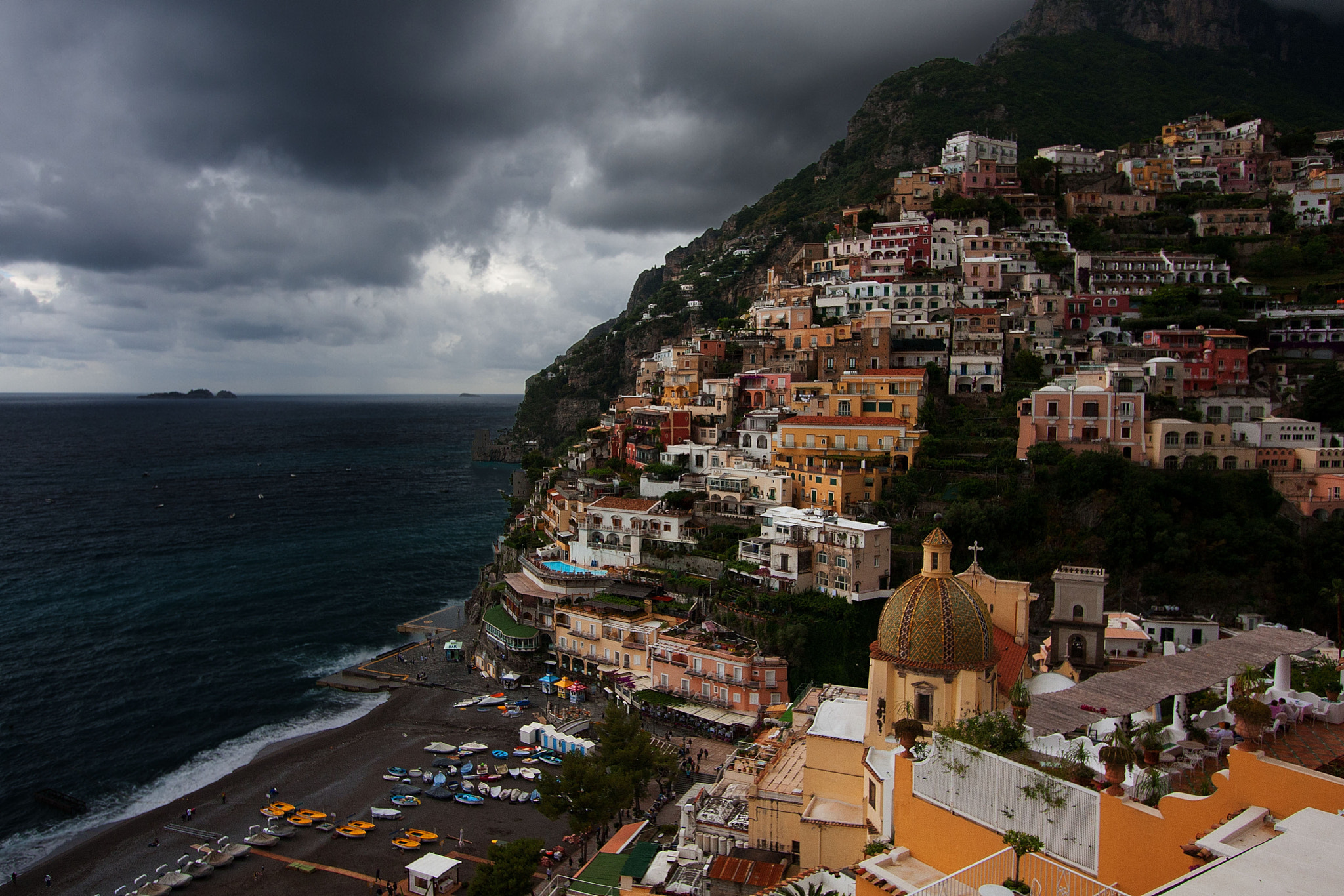 Photograph Positano under the rain by Giuseppe Mosca on 500px