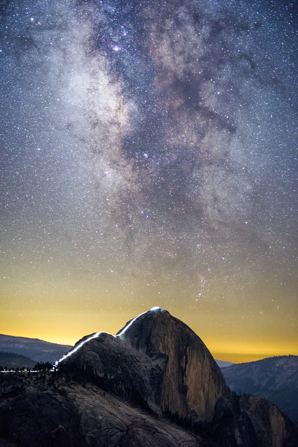 Milky Way Over the Cable Route by Kurt Lawson on 500px.com