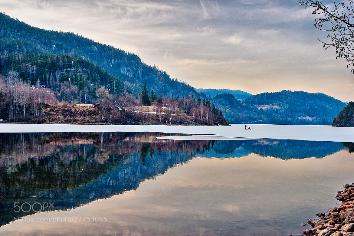 Photograph Ice fishing, Numedal, Norway by Mathias Vejerslev on 500px