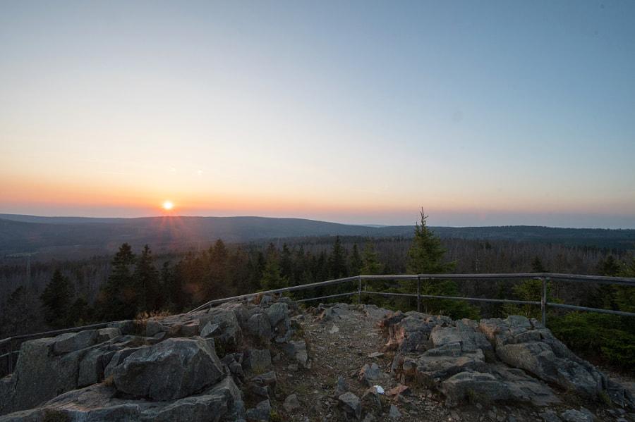 Sonnenuntergang auf der Achtermannshöhe 926m ü NN im Harz by Christoph K on 500px.com