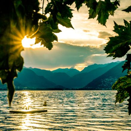 Sonnenuntergang am Lago Maggiore -Tessin
