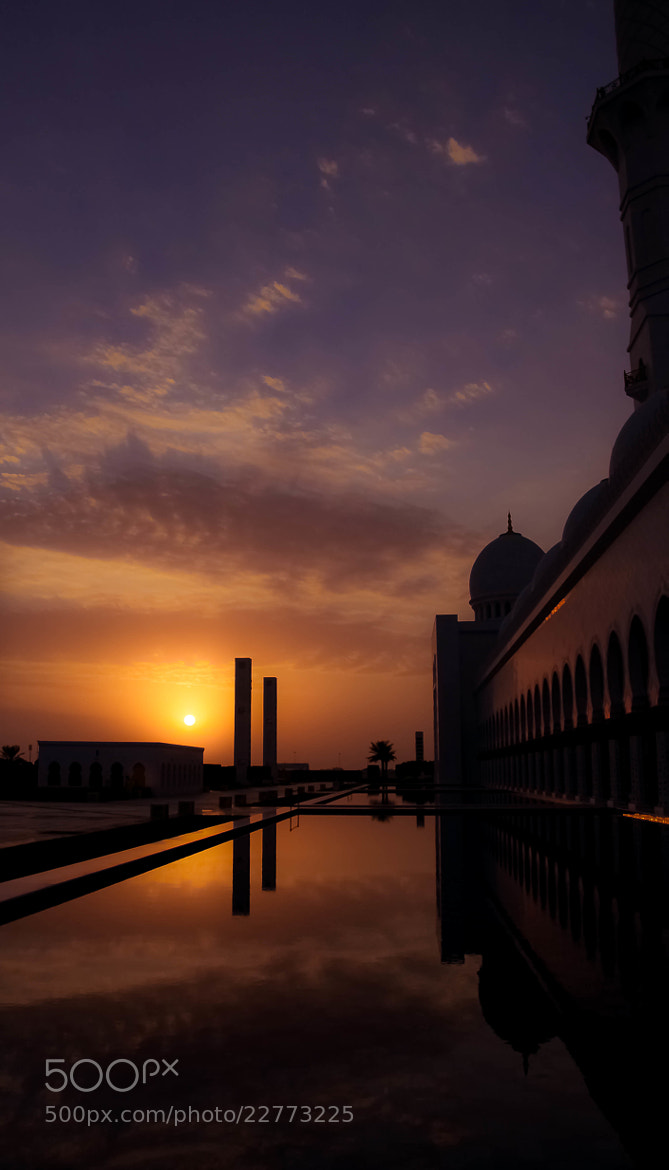 Photograph Sunset at The Grand Mosque by julian john on 500px