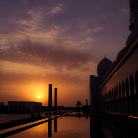 Sunset at The Grand Mosque by julian john (sandtasticdays)) on 500px.com