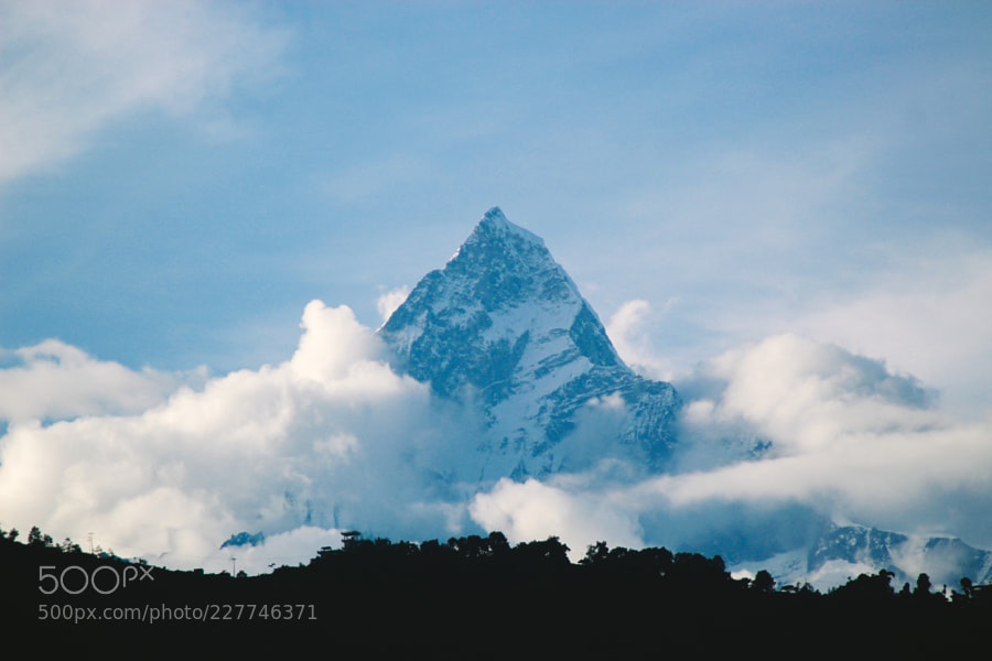 The Fishtail Mountain in Pokhara Nepal