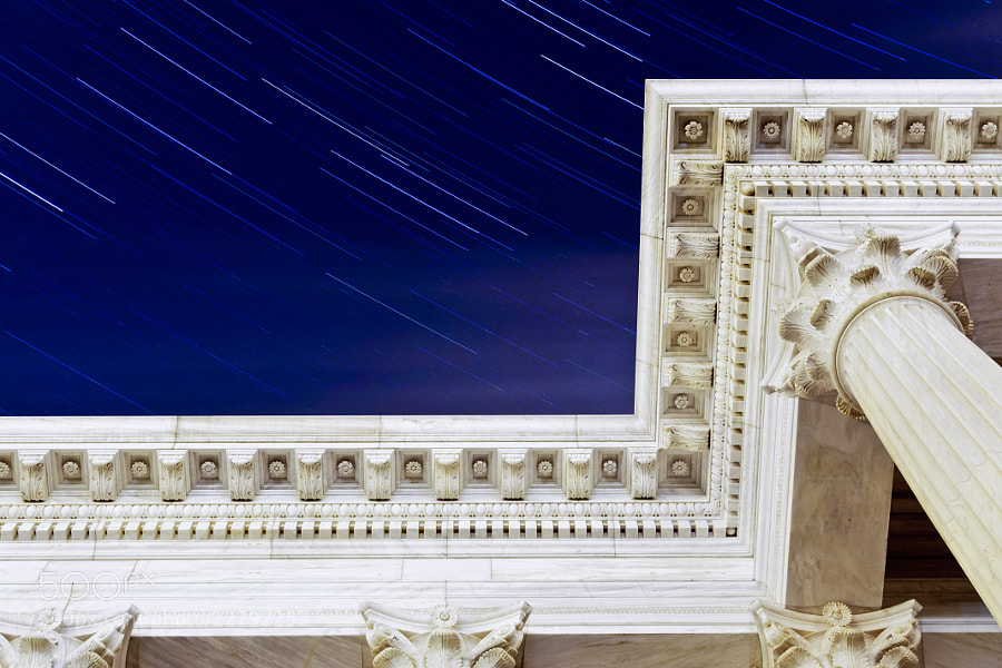 Photograph Star Trails over the Seat by Chad Mauger on 500px