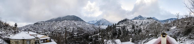 Photograph Winter panorama. Χειμωνιάτικο πανόραμα. by KONSTANTINOS BASILAKAKOS on 500px