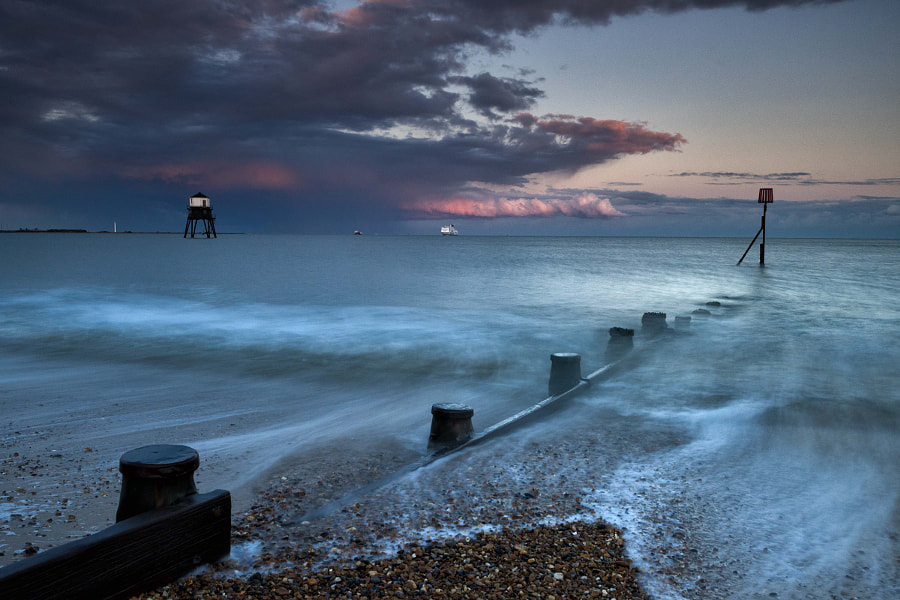 Summer storm blowing through Dovercourt Bay, Essex