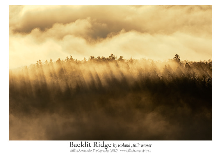 """Photograph Backlit Ridge by Roland """"Bill"""" Moser on 500px"""