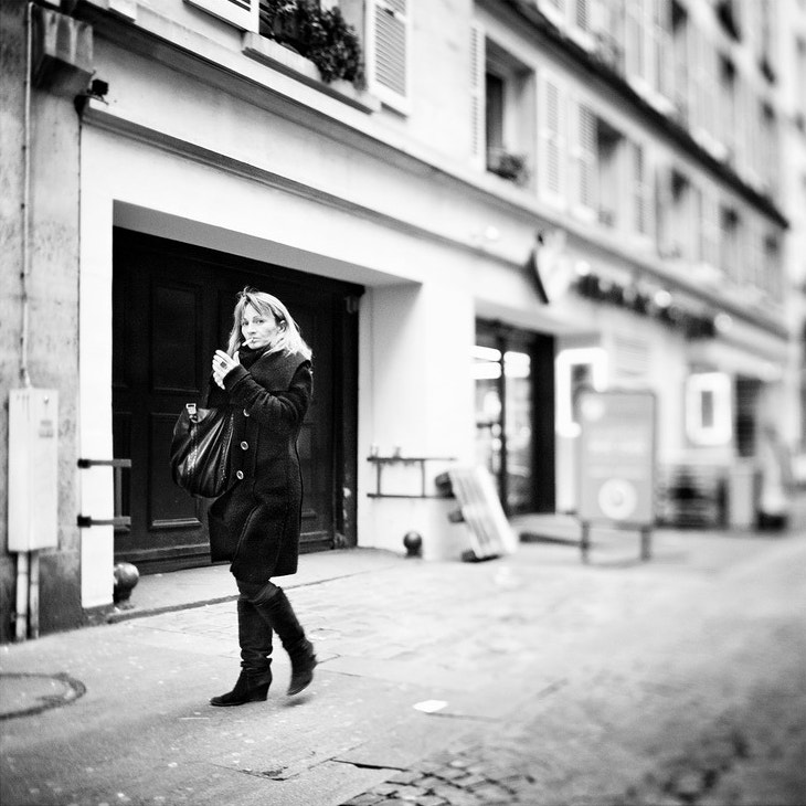 Photograph Tilted Woman Smoking by Laurent DUFOUR on 500px